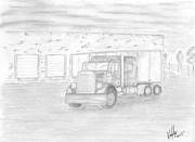Transportation Drawings Originals - Ready To Roll by Mary Vincent