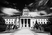 Manitoba Posters - Rear Of The Manitoba Legislative Building Winnipeg Manitoba Canada Poster by Joe Fox