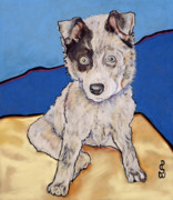 Dog Rescue Posters - Reba Rae Poster by Pat Saunders-White