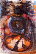 Shamanic Mixed Media Prints - Rebirth Print by Laurie Wynne Weber