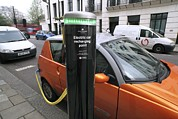 Mega Prints - Recharging An Electric Car Print by Martin Bond