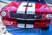 Red Photographs Framed Prints - Red 1966 Ford Mustang Shelby Framed Print by James Bo Insogna