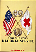 American Red Cross Prints - Red Cross Poster, 1919 Print by Granger