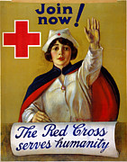 American Red Cross Prints - RED CROSS POSTER, c1917 Print by Granger