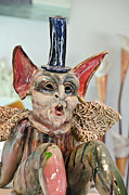 Beauty Glass Art - Red Ears Whistling Creature by Yurix Sardinelly
