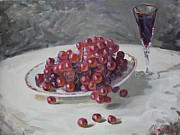 Red Grapes Print by Ylli Haruni