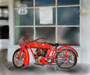 Colleen Taylor Art Prints - Red Hot Tail Gunner Print by Colleen Taylor