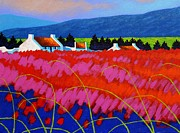 Landscape Greeting Cards Posters - Red Meadow Poster by John  Nolan