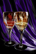 Wine Pour Digital Art Posters - Red Or White Poster by Danuta Bennett