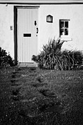 Painted Door Prints - Red Painted Door And Footpath Leading To Cottage In Former Fishing Village Of Kearney  Print by Joe Fox