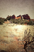 New Mexico Cards Prints - Red Rock Plates Print by Andrea Hazel Ihlefeld