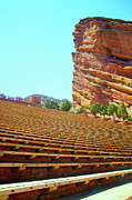 Benches Photo Originals - Red Rocks Amphitheater by Ac Pulizzano