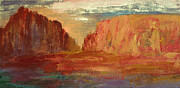 Red Cliffs Prints - Red Sedona Print by Julie Lueders