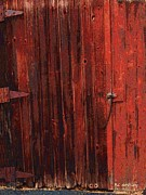 Barnboard Prints - Red Shed Print by RC DeWinter