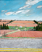 Stella Sherman Posters - Red Soil on Prince Edward Island Poster by Stella Sherman