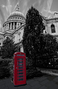 Popping Photos - Red Telephone Box by Dawn OConnor