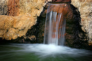 Red Waterfall Print by Carlos Caetano