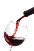 Pouring Wine Photo Originals - Red Wine Poured into Wineglass by Dustin K Ryan