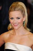 Drop Earrings Posters - Reese Witherspoon At Arrivals For The Poster by Everett