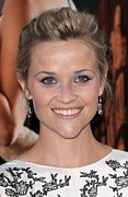 Updo Framed Prints - Reese Witherspoon At Arrivals For Water Framed Print by Everett