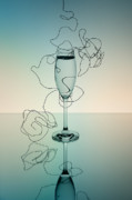 Sparkling Wine Photo Posters - Reflection Poster by Nailia Schwarz