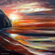 Sunsets Paintings - Reflections by Gina De Gorna