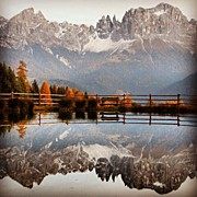 Rosengarten Photos - Reflections by Luisa Azzolini