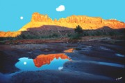 Red-rock Country Prints - Reflective Intentions Print by John Foote