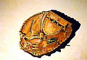 Baseball Glove Painting Framed Prints - Regent Japan Framed Print by Jame Hayes