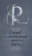 Encouragement Posters - Rejoice I Poster by Judy Dodds