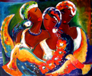 Ethnic Paintings - Remember to Dream by Ronnie  Biccard