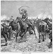 Frederick Prints - Remington: Cowboys, 1888 Print by Granger