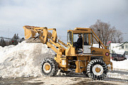 Snowstorm Photos - Removing Snow by Ted Kinsman