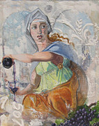 Italian Wine Paintings - Renaissance Woman by James Scrivano