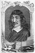 French Books Posters - Rene Descartes, French Mathematician Poster by