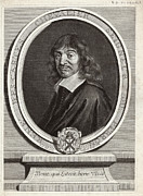 Chevalier Photo Framed Prints - Rene Descartes, French Mathematician Framed Print by Humanities & Social Sciences Librarynew York Public Library