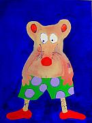 Cartoons Paintings - Retired Miami Rat by Allen n Lehman