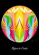 Sacred Art Paintings - Return to Center by Angela Treat Lyon