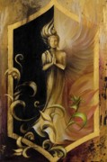Buddhist Painting Prints - Revelation and Enlightenment Print by Dina Dargo