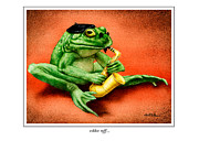 Frog Paintings - Ribbit Riff... by Will Bullas