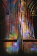 Stained Glass Windows Prints - Rich Colors Projected From Stained Print by Stephen St. John