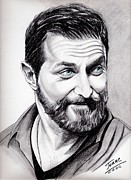 Pencils Prints - Richard Armitage shining Print by Joane Severin
