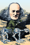 Famous Book Art - Richard Owen, English Paleontologist by Science Source