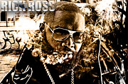 Maybach Music Framed Prints - Rick Ross Framed Print by The DigArtisT