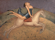 Modern Painting Originals - Rider by Nicolay  Reznichenko