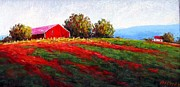 Pennsylvania Pastels - Ridgeline Farm by Bob Richey