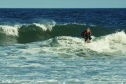 Surfing Photos Metal Prints - Riding Easy - Jersey Shore Metal Print by Angie McKenzie