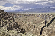 Best Sellers Posters - Rio Grande Gorge Bridge Poster by Melany Sarafis