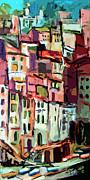 Riomaggiore Italy Cinque Terre  Print by Ginette Fine Art LLC Ginette Callaway