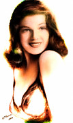 Hollywood Legend Prints - Rita Hayworth Print by Arne Hansen